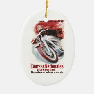 1939 Swiss National Motorcycle Racing Championship Ceramic Ornament