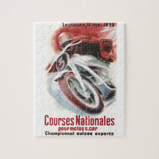 1939 Swiss National Motorcycle Racing Championship Jigsaw Puzzle