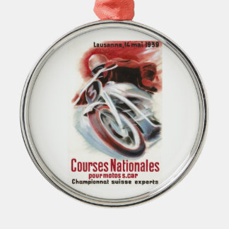1939 Swiss National Motorcycle Racing Championship Metal Ornament