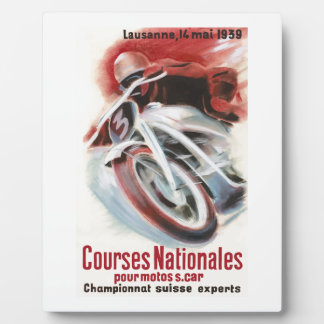 1939 Swiss National Motorcycle Racing Championship Plaque