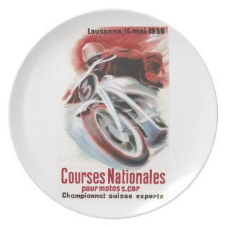 1939 Swiss National Motorcycle Racing Championship Plate