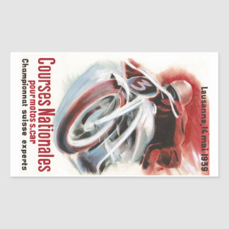 1939 Swiss National Motorcycle Racing Championship Sticker