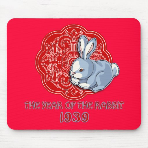 1939 The Year of the Rabbit Gifts Mousepad