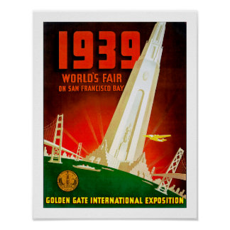 1939 World Fair San Francisco Poster