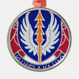 193rd Aviation Regiment Silver-Colored Round Ornament