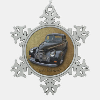1940 CHEVROLET PEWTER SNOWFLAKE ORNAMENT