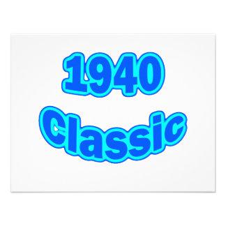 1940 Classic Blue Custom Announcements