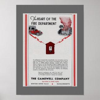 1940 Gamewell Fire Box advertisement Poster