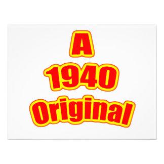 1940 Original Red Custom Announcement