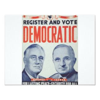 "1940 Roosevelt - Truman 4.25"" X 5.5"" Invitation Card"