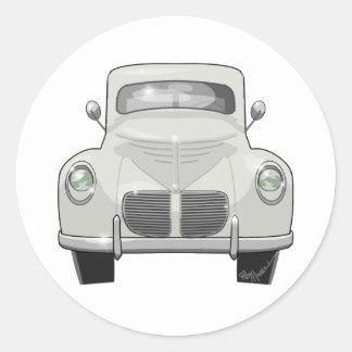 1940 Willys Overland Classic Round Sticker
