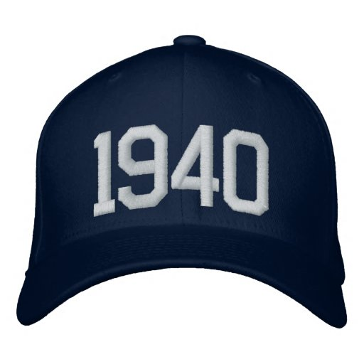 1940 Year Embroidered Hats