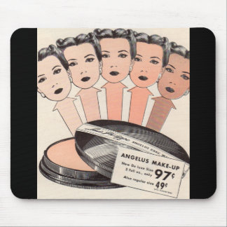 1940s ad for Angelus make-up Mouse Pad