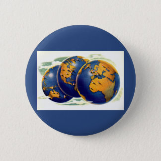 1940s as the world turns three views of earth 2 inch round button
