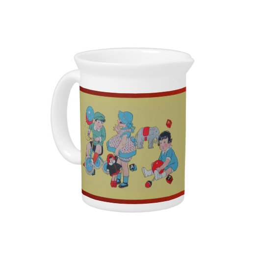 1940s Children Drink Pitchers
