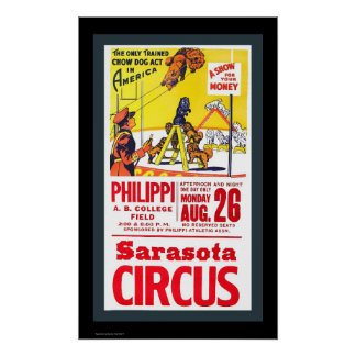 1940's CHOW CIRCUS POSTER reproduction