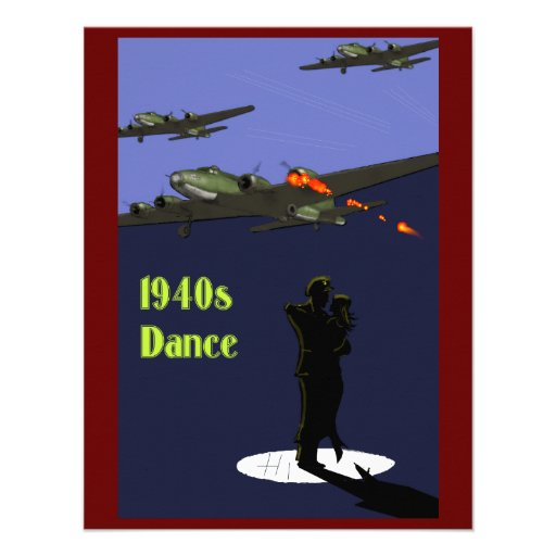 1940s Dance Invitations