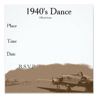 1940's Dance Invite