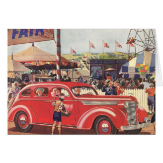 1940's Desoto Greeting Card