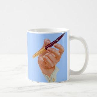 1940s hand me a pen coffee mug