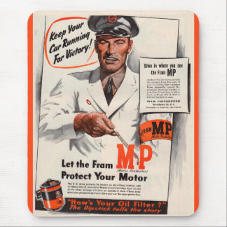 1940s Keep Your Car Running for Victory ad Mouse Pad