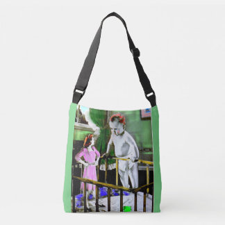 1940s mother and her giant baby crossbody bag