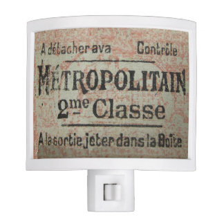 1940s Paris Metro Ticket Nite Light