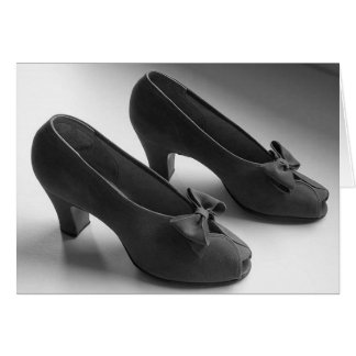 1940's Peep Toe Heels Greeting or Note Card