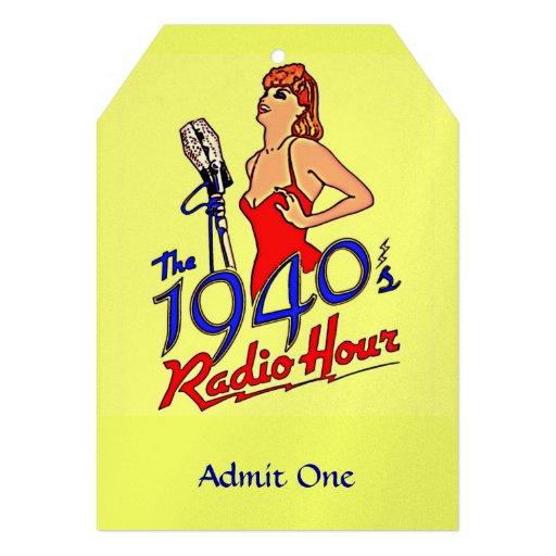 1940s Radio Hour Personalized Invitations