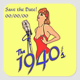 1940s Radio Hour Square Sticker