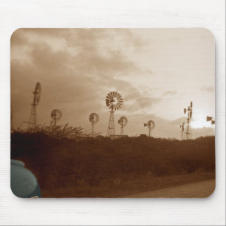 1940's Sepia Windmill Farm w/ colorized car fender Mouse Pad