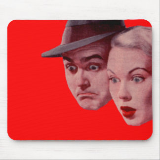 1940s Sherman and Marsha are SURPRISED Mouse Pad