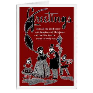 1940s Style Christmas Card Greeting