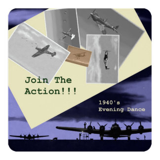 1940's Themed Party Invitations