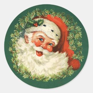 1940s Vintage Santa Claus Stickers