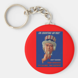 1940s warning from Uncle Sam Keychain