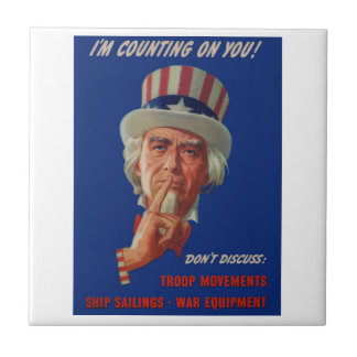 1940s warning from Uncle Sam Tile