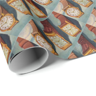 1940s wristwatches print wrapping paper