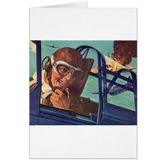 1940s WWII dogfight in the air Greeting Card