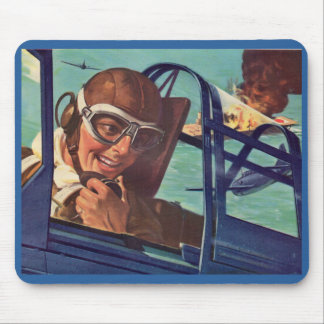 1940s WWII dogfight in the air Mouse Pad