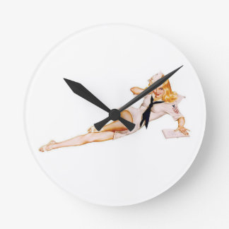 1940's WWII Pinup Girl Clocks