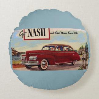 1941 Nash automobile ad Round Pillow