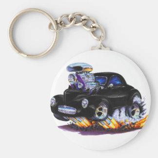 1941 Willys Black Car Keychain