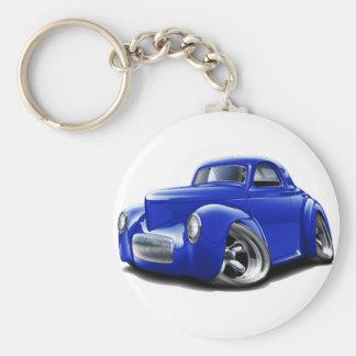 1941 Willys Blue Car Keychain