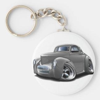 1941 Willys Grey Car Keychain
