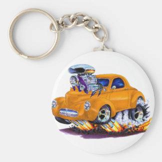 1941 Willys Orange Car Basic Round Button Keychain