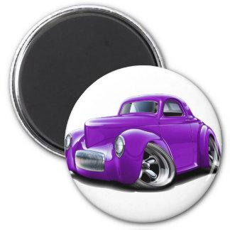 1941 Willys Purple Car Magnet
