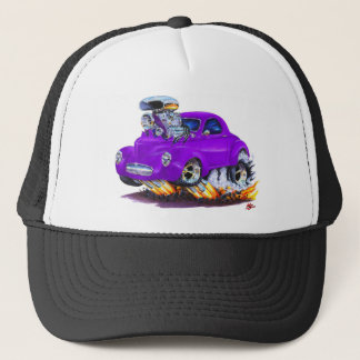 1941 Willys Purple Car Trucker Hat