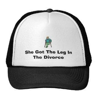 1942555751, She Got The Leg In The Divorce Trucker Hat