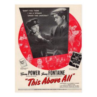 1942 cette surtout affiche de film cartes postales